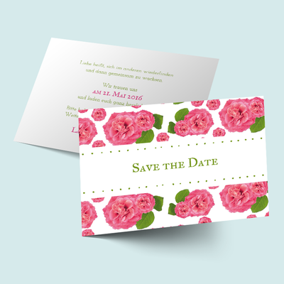 Save the Date Karten: Flower Power previews