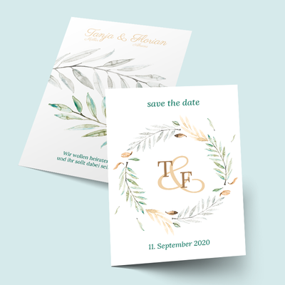 Save the Date Karten: Branch Monogram previews