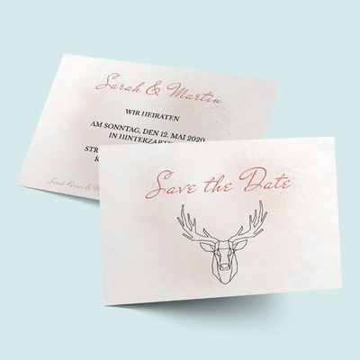 Save the Date Karten: Geometric Deer previews
