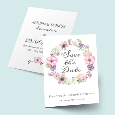 Save the Date Karten: Watercolor previews