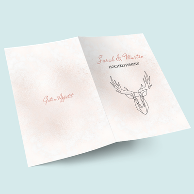 Menükarten: Geometric Deer previews
