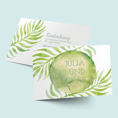 Einleger DIN A 6: Greenery previews