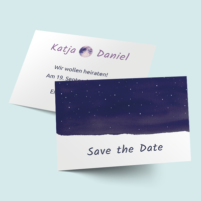 "Save the Date Karten ""Sternenhimmel"" previews"